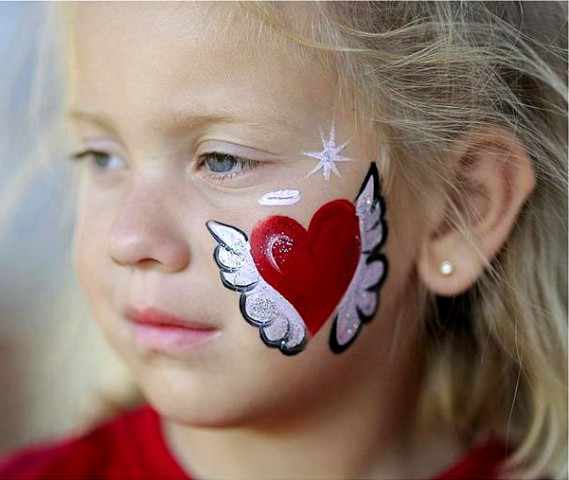 Heart Face Painting Related Keywords amp Suggestions