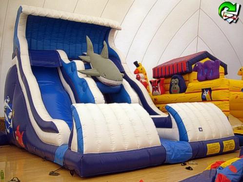 Shark Slide Mt 9x6x7 Per Bambini Giochi E Gonfiabili Giochi E